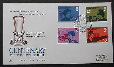 Gb Fdc Centenary Of The Telephone