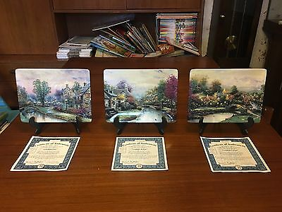 Lamplight Village collectors plate set with COA and boxes