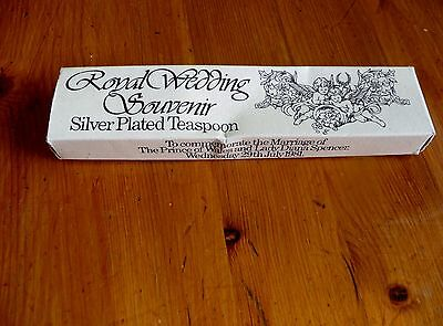 Royal Wedding Souvenir Silver Plated Teaspoon Prince of Wales & Lady Diana 1981