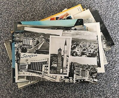 Collection Of 50x Vintage Former Yugoslavia Postcards