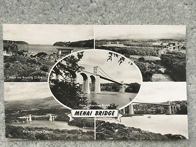 Anglesey, Wales - Menai Suspension Bridge - Multiview Postcard Unposted