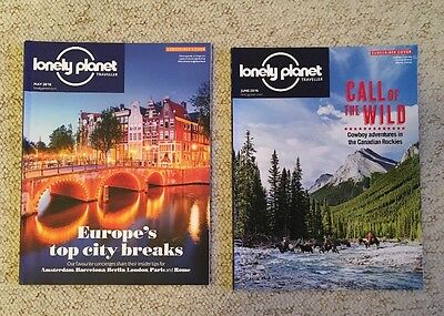 2 x Lonely Planet Traveller Magazines May June 2016 89 90