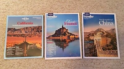 3 x Lonely Planet Traveller Magazines July August September 2012 43 44 46