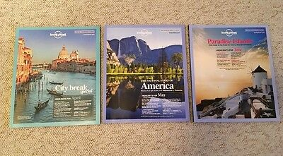 3 x Lonely Planet Traveller Magazines April May June 2012 40 41 42