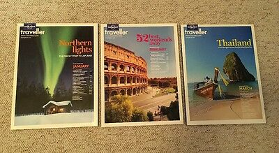 3 x Lonely Planet Traveller Magazines January February March 2013 49 50 51