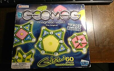 Geomag Magnetic World - The Original - Glow 60 Pieces with Box, Unopened