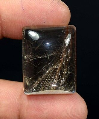 Aaa !  52.55 Cts. 100 % Natural  Copper Rutile Cushion Cab For Silver Pendant