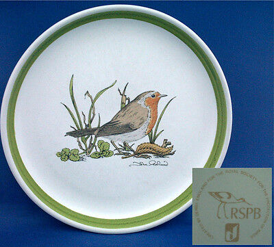 Robin. Made For The Rspca By Denby Pottery. Tea Plate Featuring The Robin