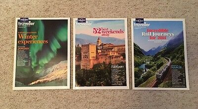 3 x Lonely Planet Traveller Magazines January February March 2014 61 62 63