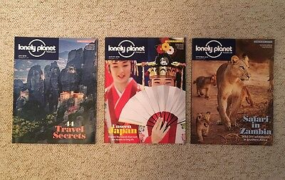 3 x Lonely Planet Traveller Magazines July August September 2016 91 92 93