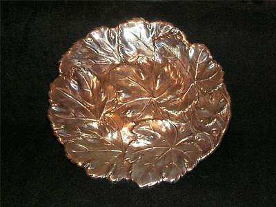 """Rare Vintage Gorham Ep Silverplate Detailed Grape Leaves Shallow Bowl Plate 10"""""""