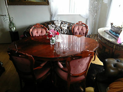 Italian Mahogany Dining Set with Four Chairs
