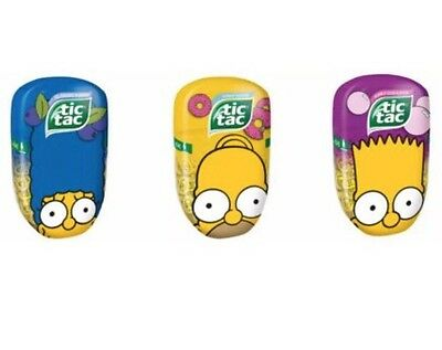 3x Tic Tac The Simpsons with prints - 3 flavours (Donut, Bubble gum, Blueberry)