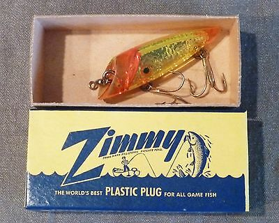 "Vintage Zimmy 3"" Yellow Flash S3-1 Salmon Fishing Lure - NIB -"