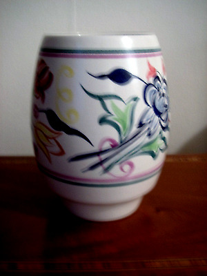 """Vintage Poole pottery 6"""" vase - Traditional design from early 1970s"""