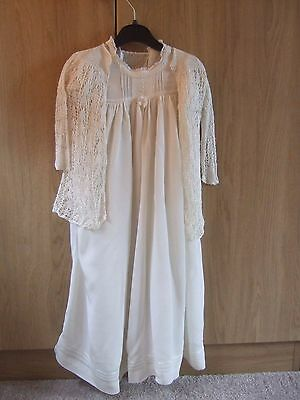 Vintage Baby Christening Gown and Cardigan