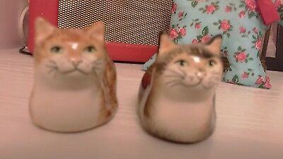babbacombe pottery pair of cats
