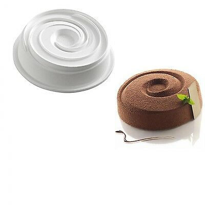 HOT Spiral Round Shaped Cake Silicone Mold Baking Chocolate Mould Muffin Cookie