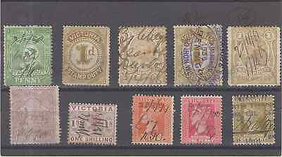 Victoria Stamps  Revenues  10Pc