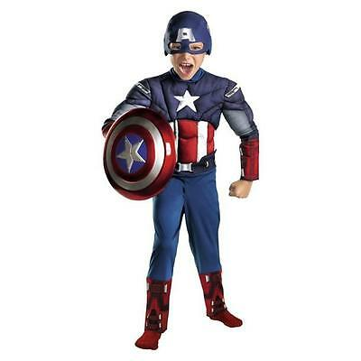 NEW AVENGERS CAPTAIN AMERICA Muscle SUPER HERO Marvel HALLOWEEN COSTUME S 4-6