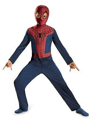 NEW AMAZING SPIDERMAN 2 MOVIE SUPER HERO Marvel HALLOWEEN COSTUME boy size M 7-8