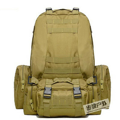 Large 55L Outdoor Military Molle Camping Backpack Tactical Camping Hiking Bags