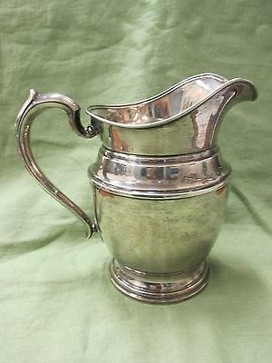 Antique MERIDEN Sterling Silver 4 Pint/8 Cup Water Pitcher NO MONOGRAM or dents