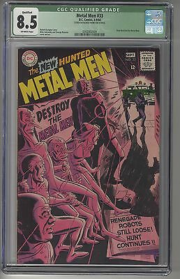 METAL MEN #33 CGC 8.5Q OWW Pages DC Silver Age