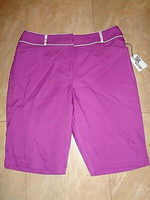 Tail White Label Golf Shorts Size 12 Purple  NWT $55