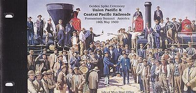 Isle of Man Mint Stamps Union Pacific and Central Pacific Railroads