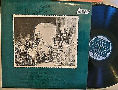 """Handel - Belshazzar, 1 Of 3 12"""" Turnabout Lp's, See My Other In Series"""