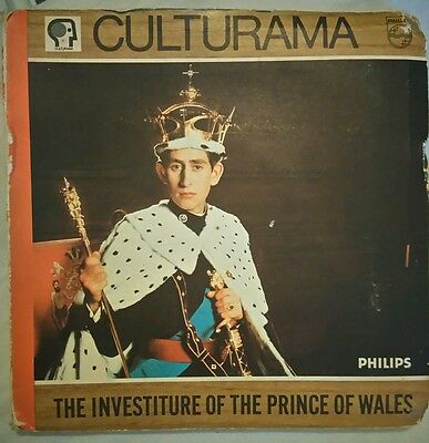 """The Investiture Of The Prince Of Wales - 33rpm 7"""" Vinyl & Book, Belgium Pressed"""
