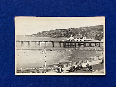 Vintage postcard: Denbighshire, Colwyn Bay, pavilion and promenade, posted 1950