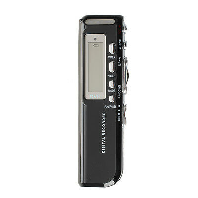 8GB Digital Voice Recorder Dictaphone MP3 Player 650Hr Rechargeable Black R6D1