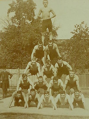 Czech Sokol Boys Working Out No. 2 , photo dated 1907, gay interest       z9550