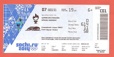 Orig.Ticket  Olympic W.Games SOCHI 2014 - OPENING CEREMONY  !!  VERY RARE