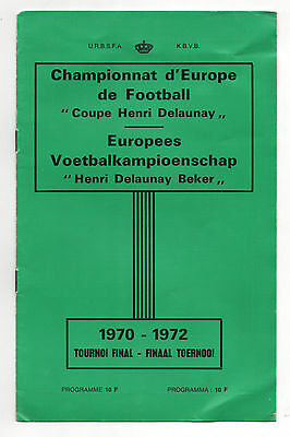 Orig.PRG    European Championship BELGIUM 1972 - FINAL TOURNAMENT  !!  RARITY