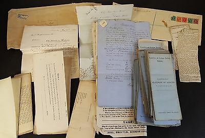 Railway related documents 19th Century