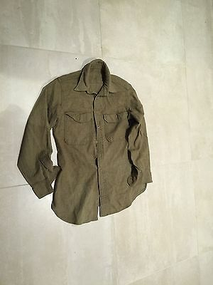 "ww2 wool shirt ,us army, small repair ,used medium""A"""