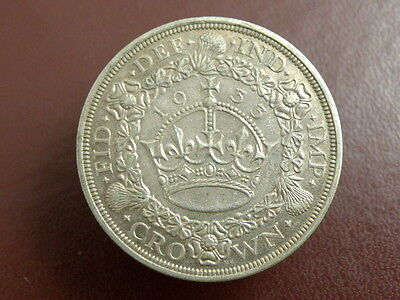 1933 King George V SILVER PROOF 'WREATH' CROWN COIN - Scarce High Value Coin