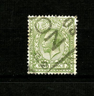 Great Britain #183 (GR478) King edward VII 9p Olive Green, Used, FVF, CV$35.00