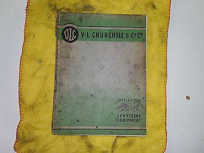 VL Churchill Ford Servicing Equipment catalogue