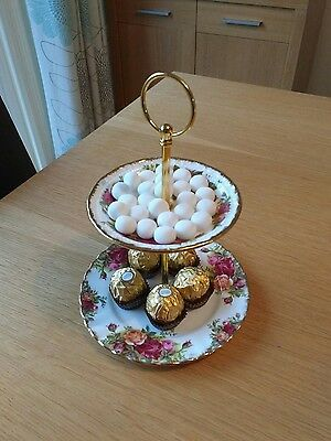 Royal Albert Old Country Roses - 2 Tier Coffee Accompaniment Stand