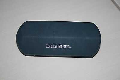 Diesel sunglasses glasses hard case blue, logo , new with cleaning cloth