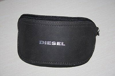 Diesel sunglasses glasses hard zip case grey, logo , new with cleaning cloth
