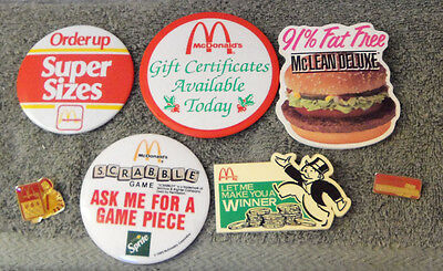 lot of vintage McDonald employee pins