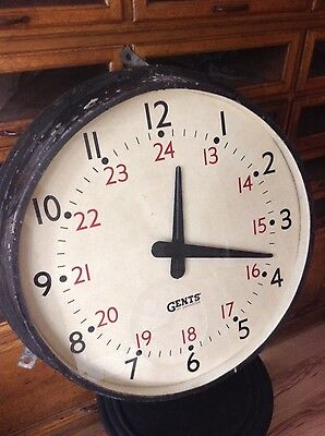 Gents Gent of Leicester Railway Station Factory Clock