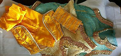 Children's Set of Traditional Ethnic Clothes with Gold Thread