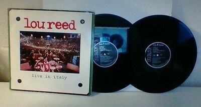 Lou Reed Live In Italy Vinyl Lp.  Double Album.  German Pressing.