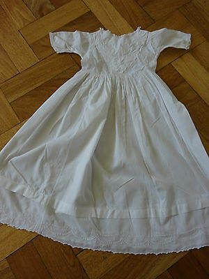 Vintage Very Fine  Cotton Long Dress/ Gown For Babies Or Dolls